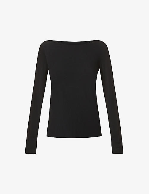 WOLFORD: Aurora long-sleeved stretch-woven top