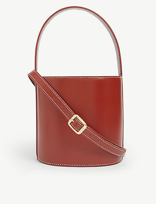 STAUD: Bisset leather bucket bag