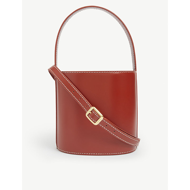 Staud Leathers BISSET LEATHER BUCKET BAG