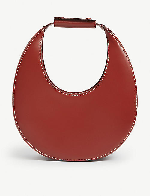 STAUD: Moon leather shoulder bag