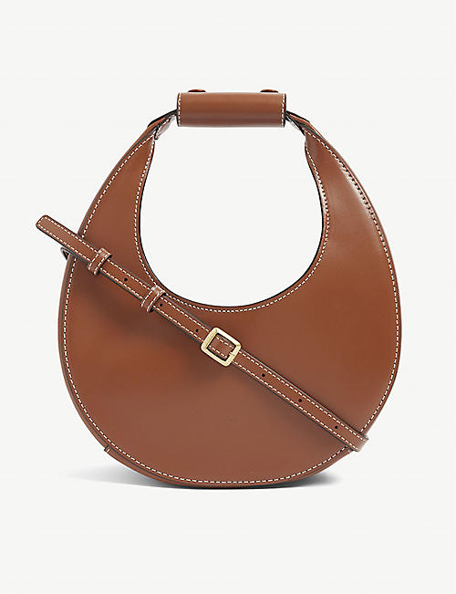 STAUD: Mini Moon leather shoulder bag