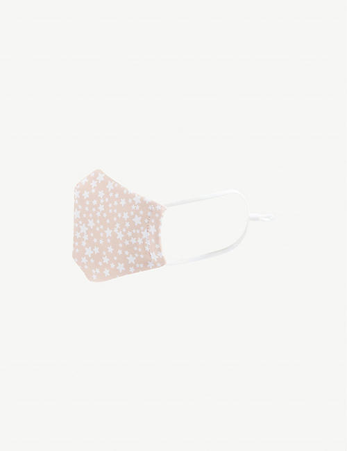 MIMI & LULA: Star-print cotton face covering 3-12 years