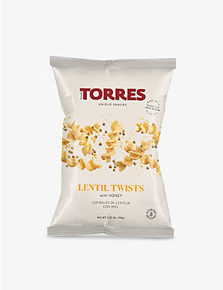 TORRES: Lentil Twists with Honey 70g