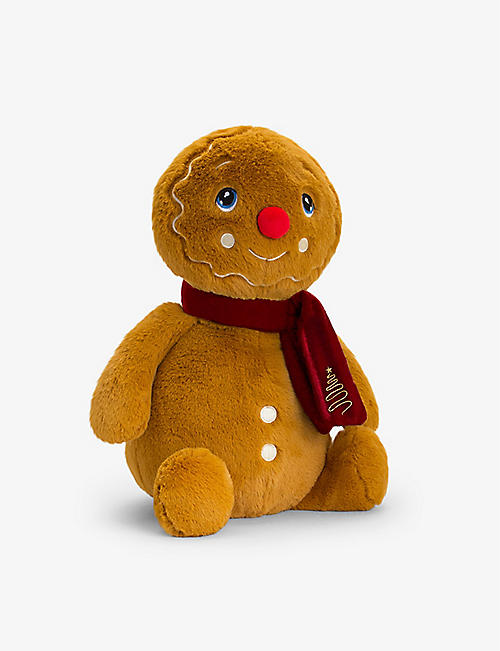 KEEL: Keel Eco gingerbread man with scarf soft toy 25cm