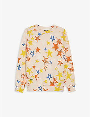 MOLO: Star-print organic cotton sweatshirt 4-14 years