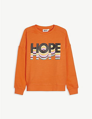 MOLO: Mandy graphic-print cotton sweatshirt 4-14 years