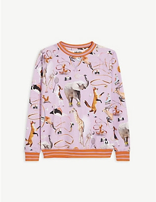 MOLO: Raewyn animal-print long-sleeved stretch-organic cotton T-shirt 4-12 years