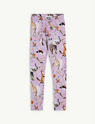 MOLO: Niki animal-print organic-cotton leggings 4-12 years