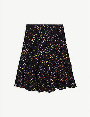 MOLO: Star-print satin midi skirt 3-14 years