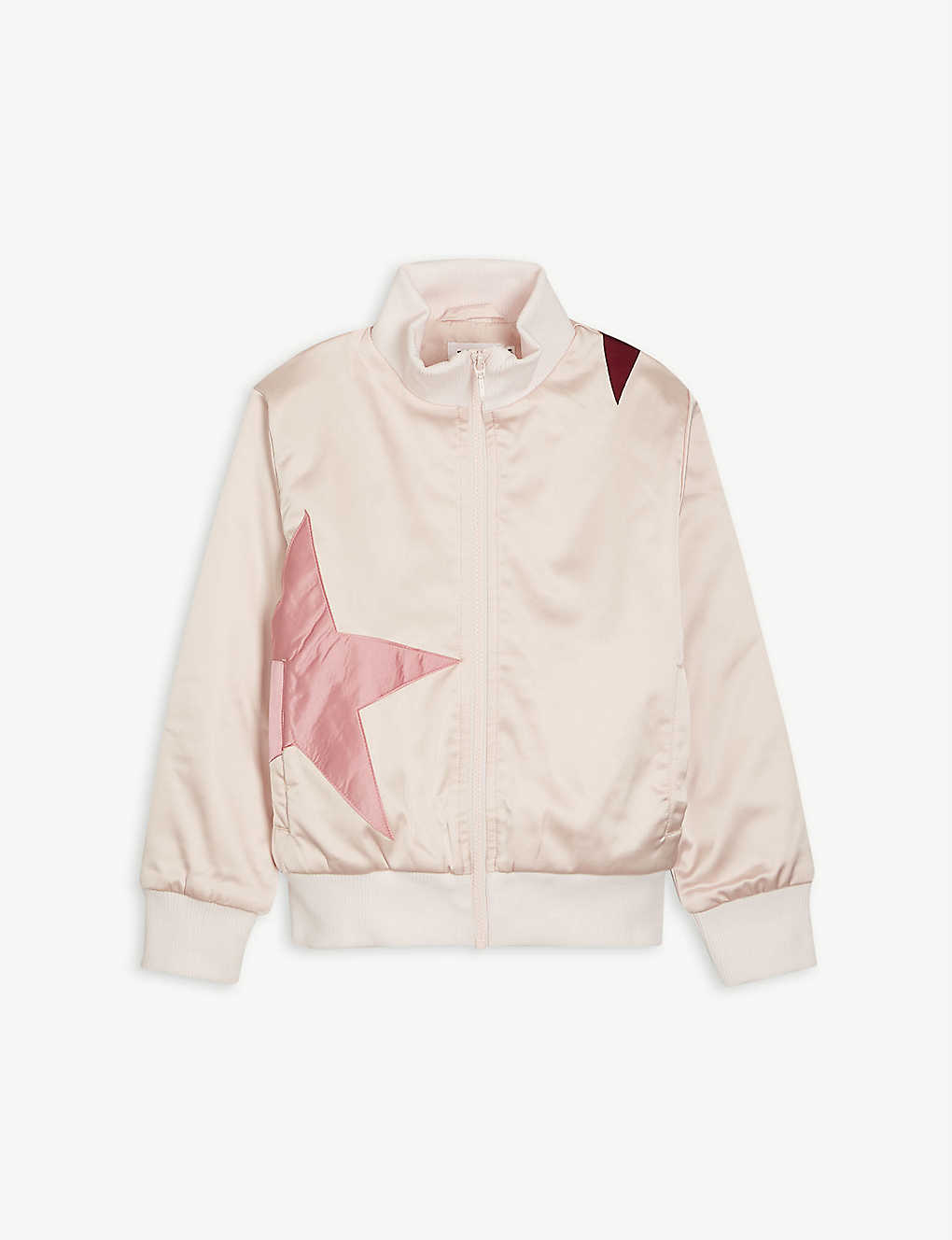 MOLO: Hazel star-embroidered satin bomber jacket 4-14 years