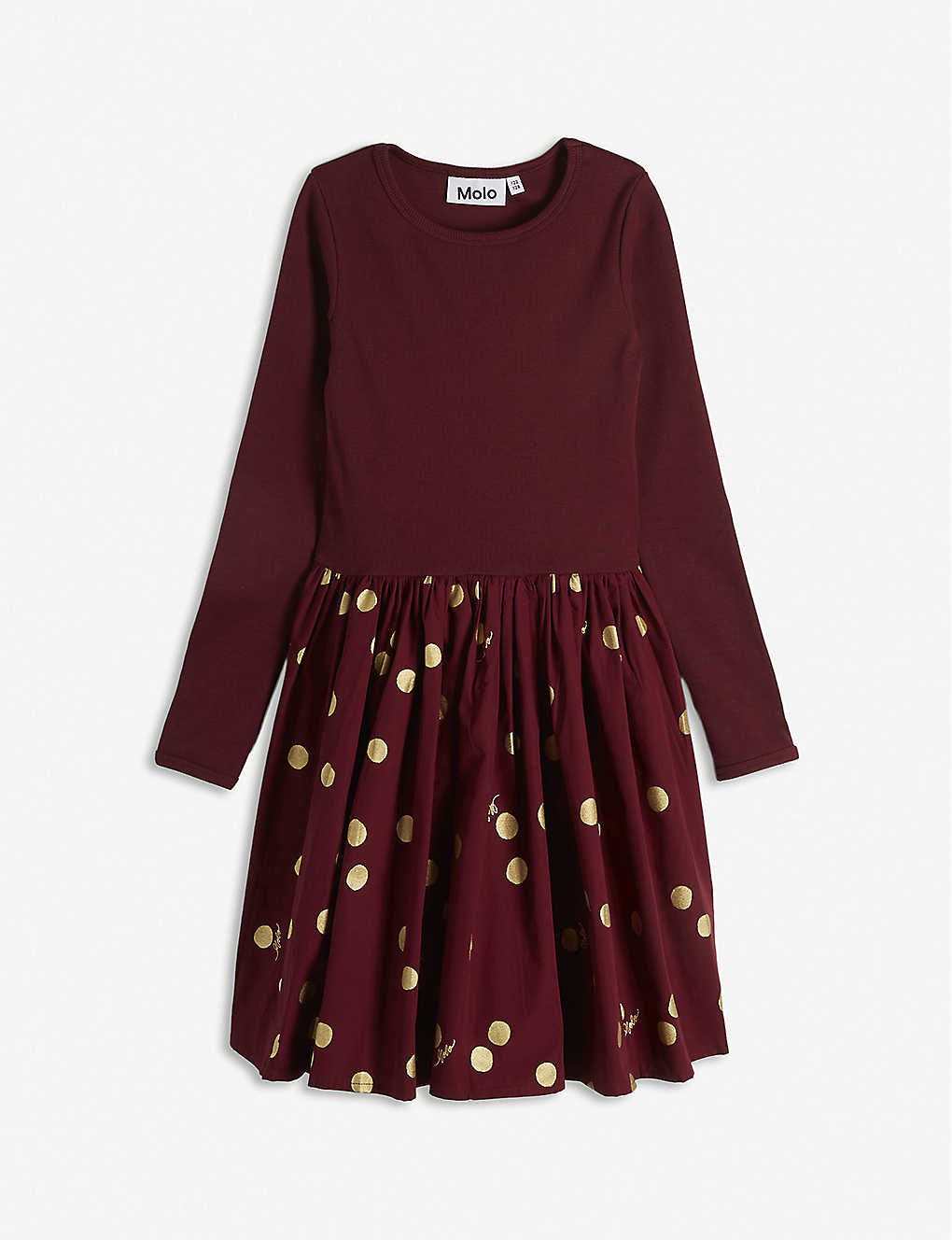MOLO: Casie flared organic cotton dress 3-14 years