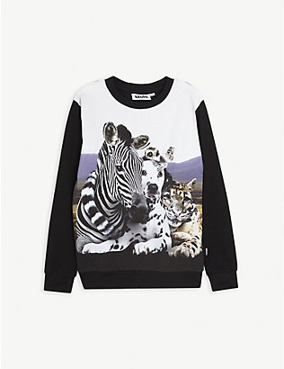 MOLO: Animal-print stretch-cotton T-shirt 4-12 years