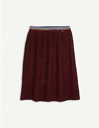 MOLO: Striped-waistband woven midi skirt 3-14 years