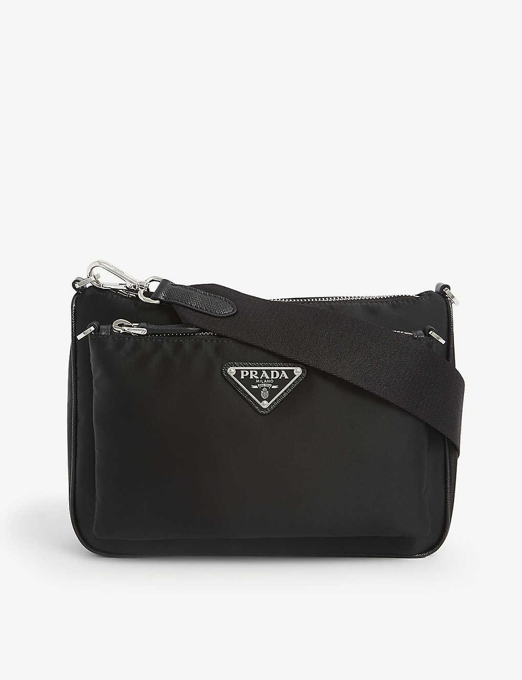 PRADA: Branded nylon cross-body bag