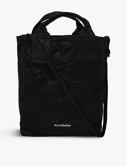 ACNE STUDIOS: Aimie Memory canvas tote bag