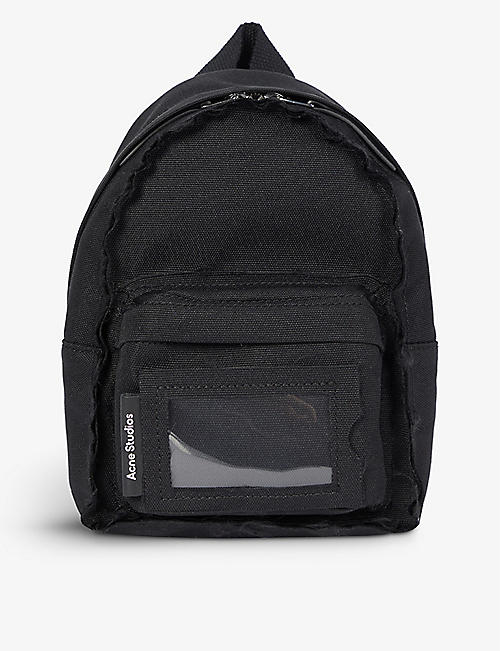 ACNE STUDIOS: Frayed trim mini canvas backpack