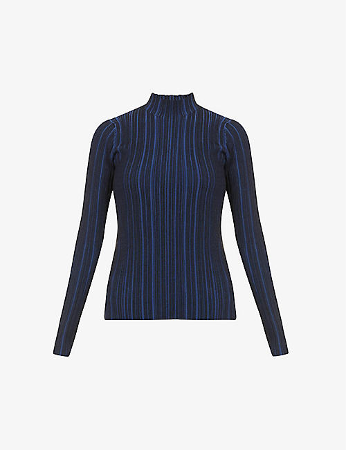 ACNE STUDIOS: Katina high-neck cotton-knit jumper