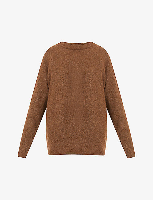 ACNE STUDIOS: Dramatic slim-fit knitted jumper