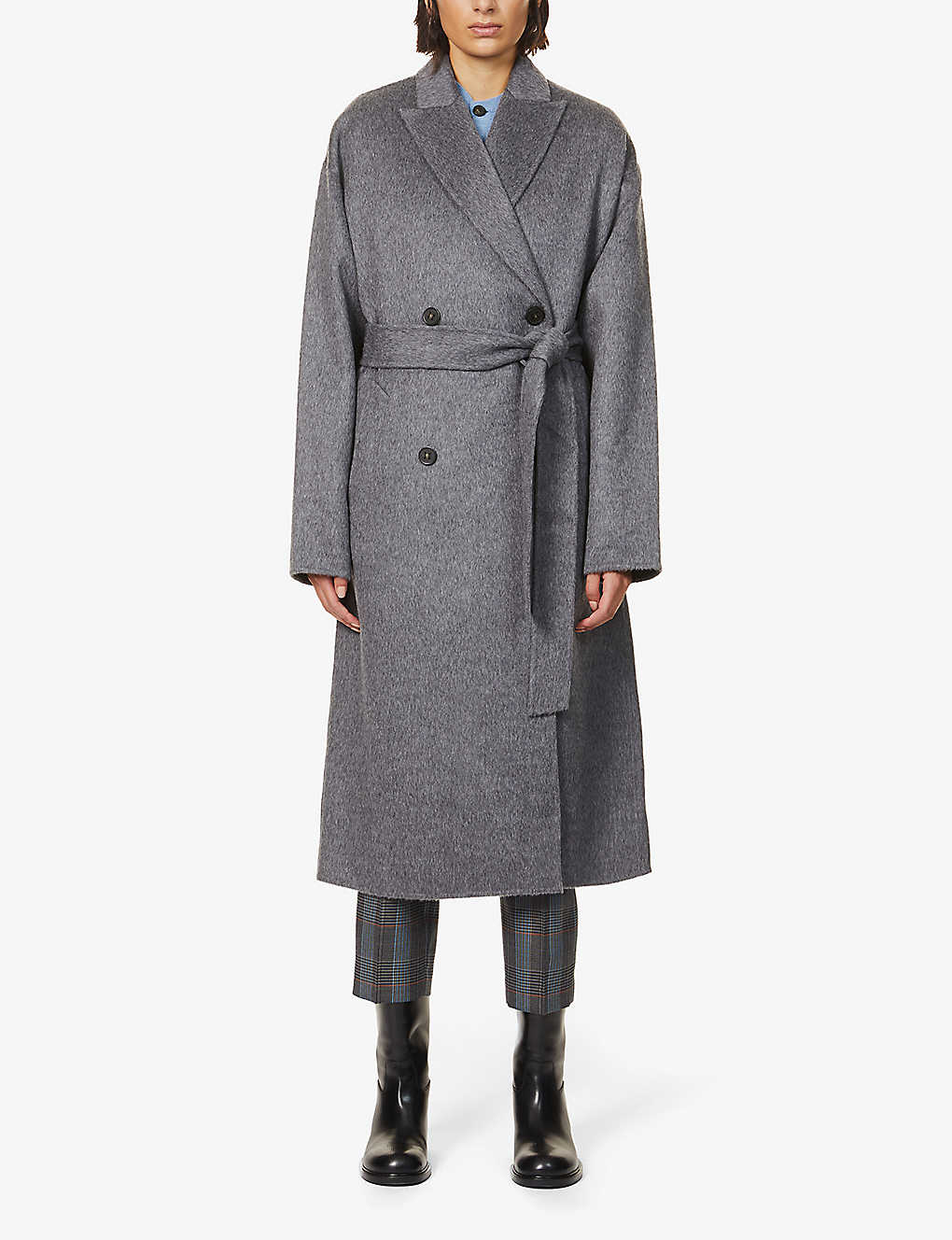 ACNE STUDIOS: Owanne double-breasted wool-blend coat