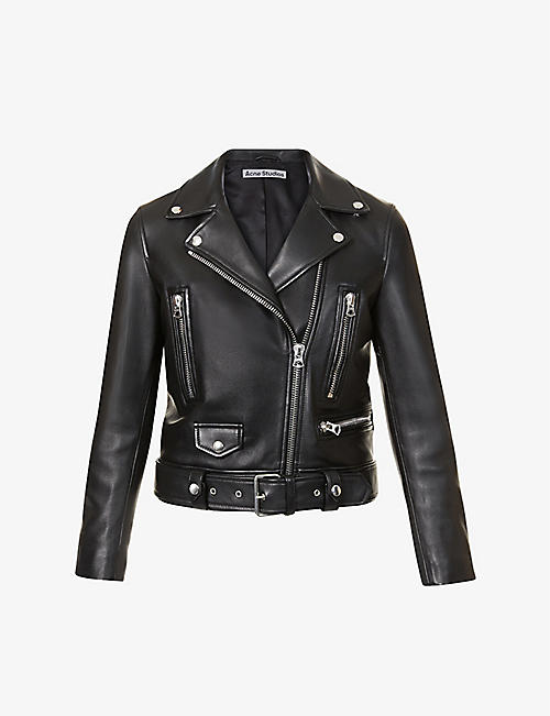 ACNE STUDIOS: Mock leather biker jacket