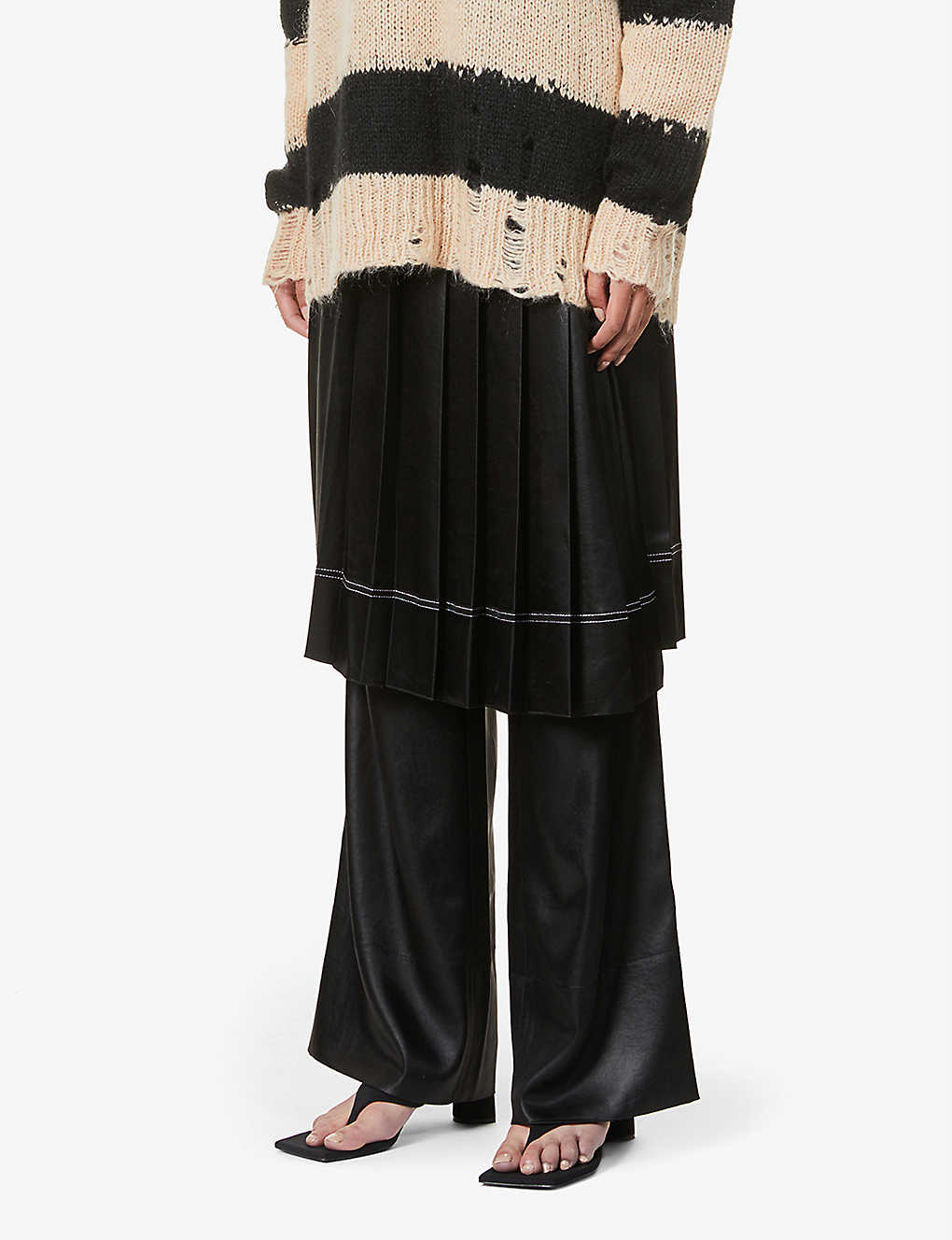 ACNE STUDIOS: Itty Cinz pleated satin skirts