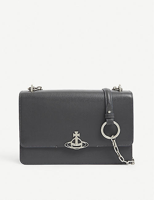 VIVIENNE WESTWOOD: Debbie leather cross-body bag