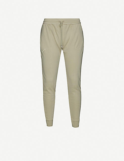 PREVU: Signature logo-print cotton-jersey jogging bottoms