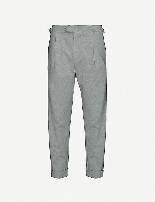 PREVU: Mid-rise tapered woven trousers