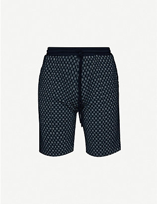 PREVU: Solander checked stretch-woven shorts