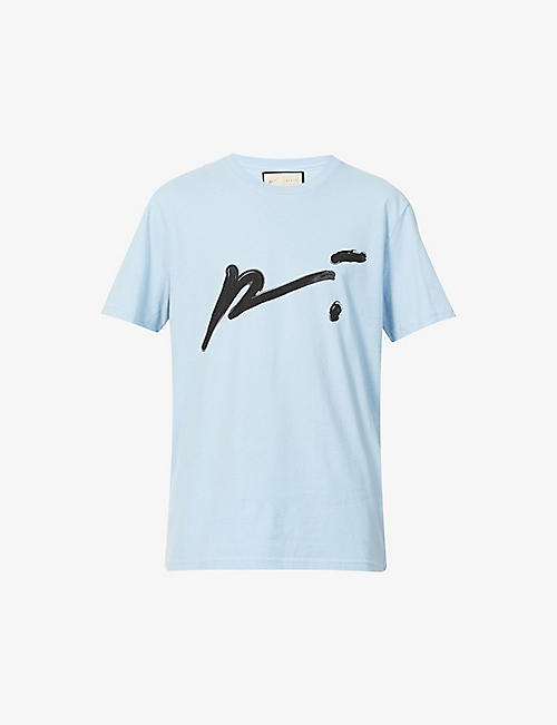 PREVU: Signature graphic-print organic cotton-jersey T-shirt