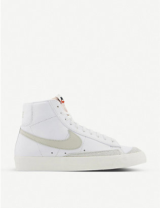 NIKE: Blazer Mid '77 leather and textile trainers
