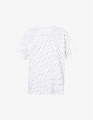 VICTORIA VICTORIA BECKHAM: All-over logo-print cotton-jersey T-shirt