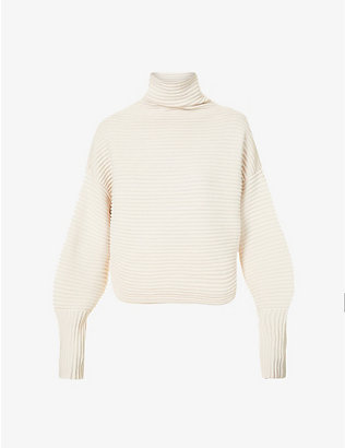 VICTORIA VICTORIA BECKHAM: Cross-over wool jumper
