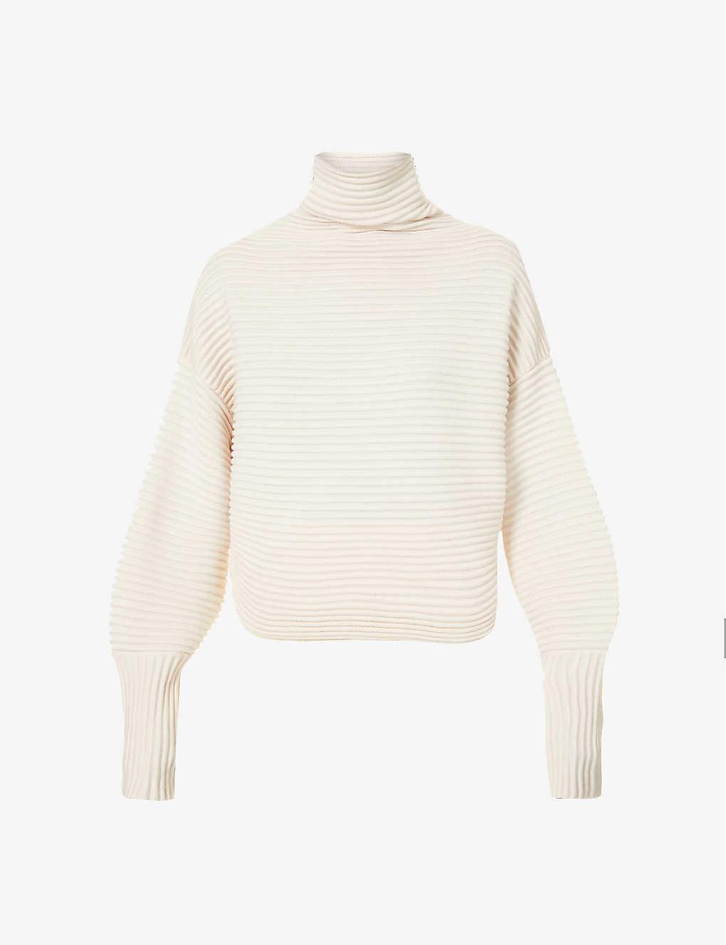 VB Ribbed Turtleneck Sweater