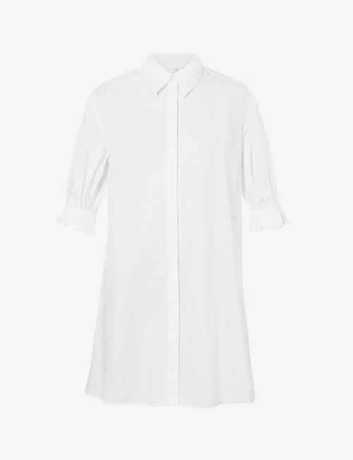 VICTORIA VICTORIA BECKHAM: Ruffled organic-cotton mini dress