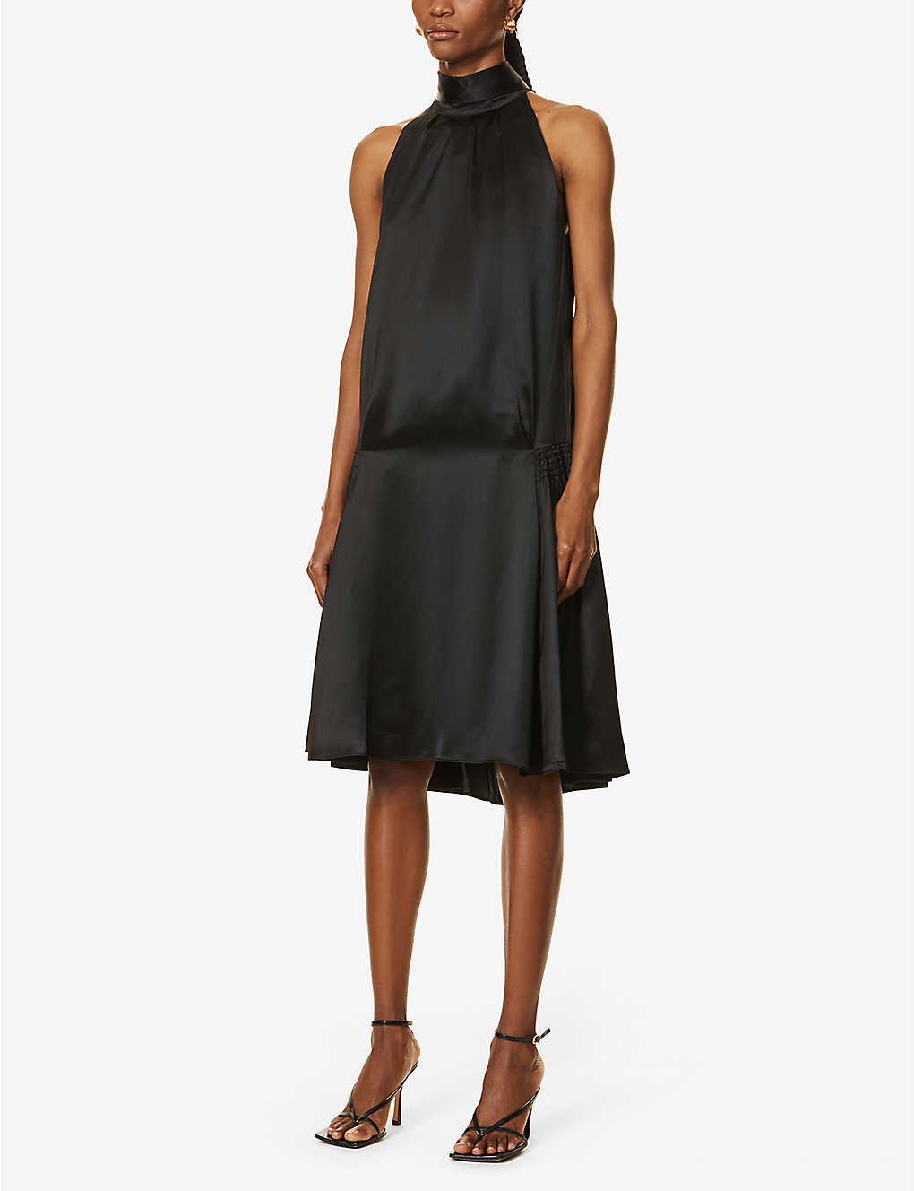 VICTORIA VICTORIA BECKHAM: Flared satin midi dress