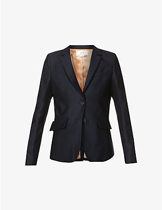VICTORIA VICTORIA BECKHAM: Single-breasted wool-twill blazer