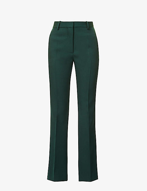 VICTORIA BECKHAM: High-rise flared wool trousers