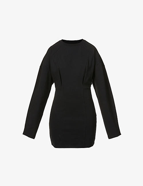 FENTY: Oversized corset cotton-jersey dress
