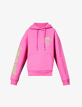 FENTY: Graphic-print cut-out cotton-jersey hoody