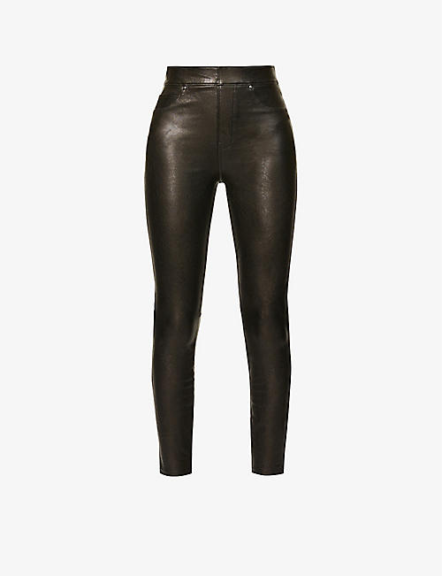 SPANX: Like Leather skinny high-rise faux-leather trousers