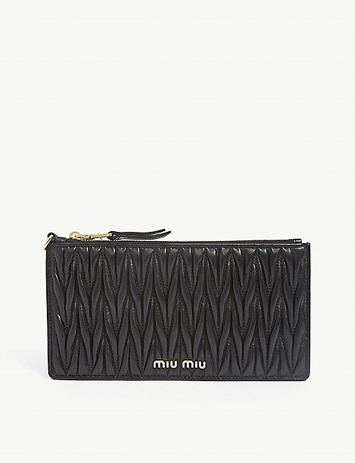 MIU MIU: Matelasse Trick quilted leather wallet