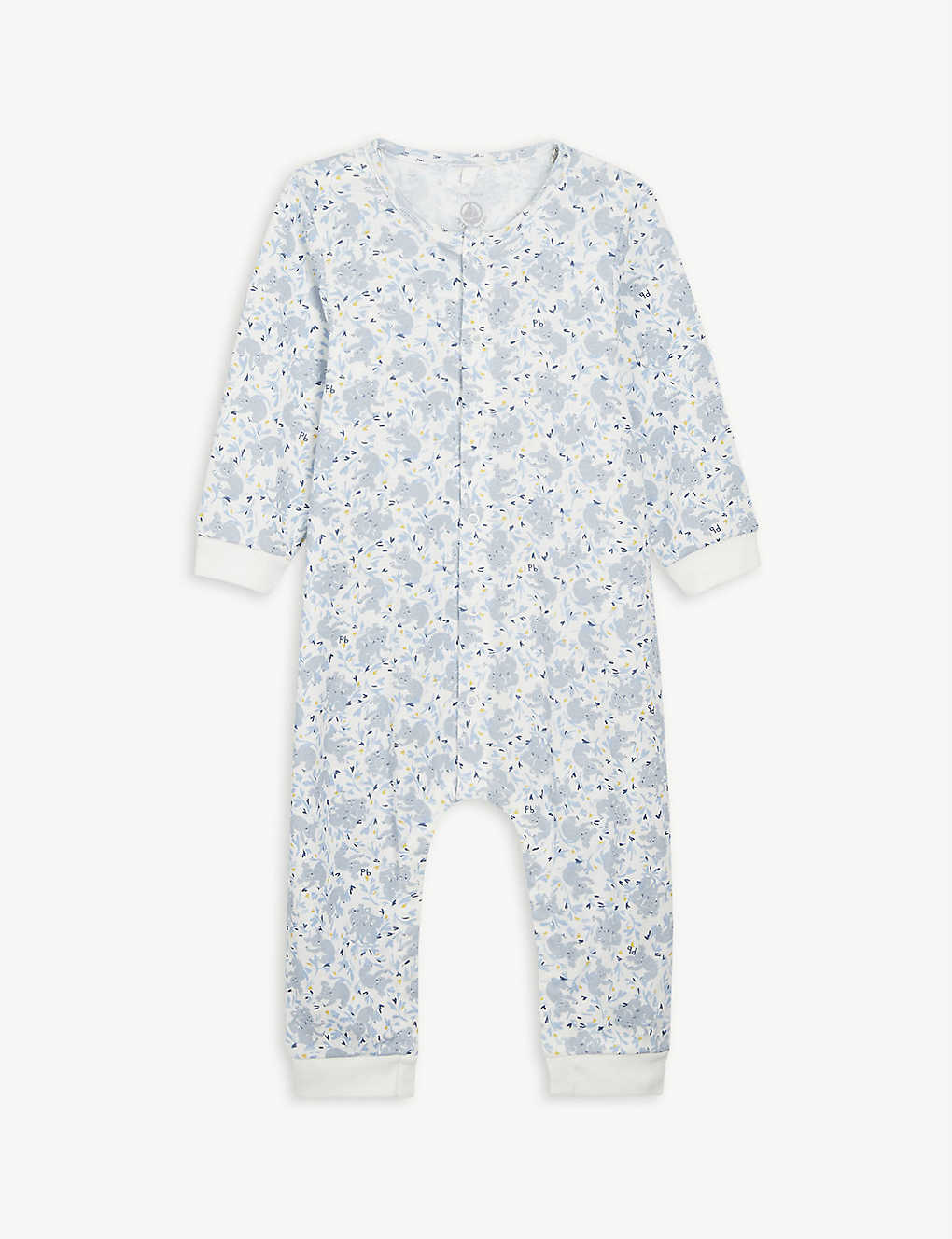 PETIT BATEAU: Koala cotton all-in-one 1-12 months