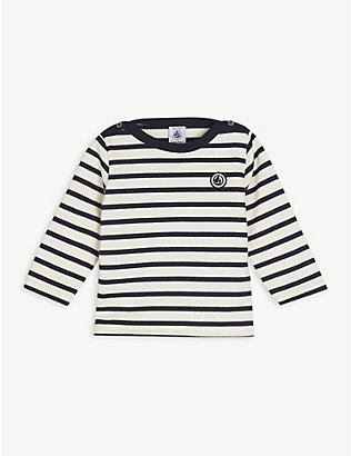 PETIT BATEAU: Striped cotton jumper 6-36 months