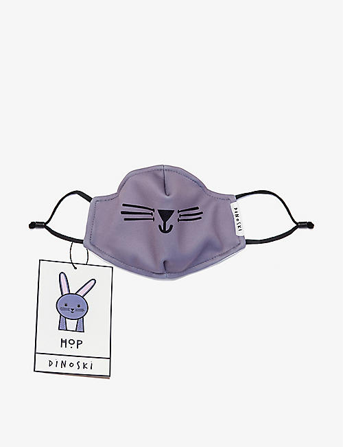 DINOSKI: Kids bunny three-layer face covering 3-16 years