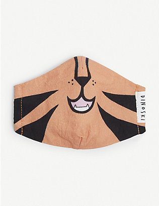 DINOSKI: Kids Tiger three-layer face covering 3-16 years