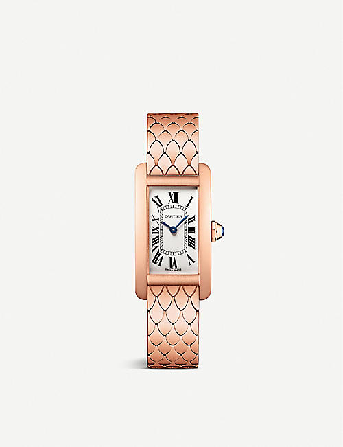 CARTIER: CRW2620031 Tank Américaine 18ct rose-gold quartz watch