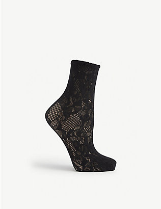 WOLFORD: Morgan lace socks
