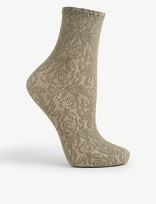 WOLFORD: Reese sheer lace socks