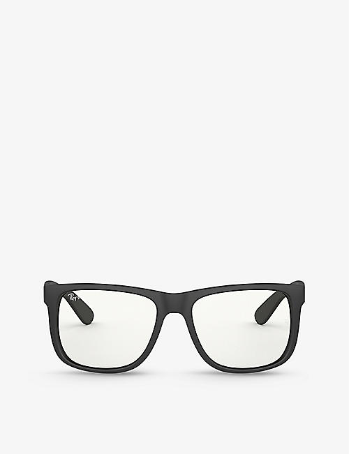 RAY-BAN: RB4165 Everglasses Justin Clear rectangle-frame nylon sunglasses